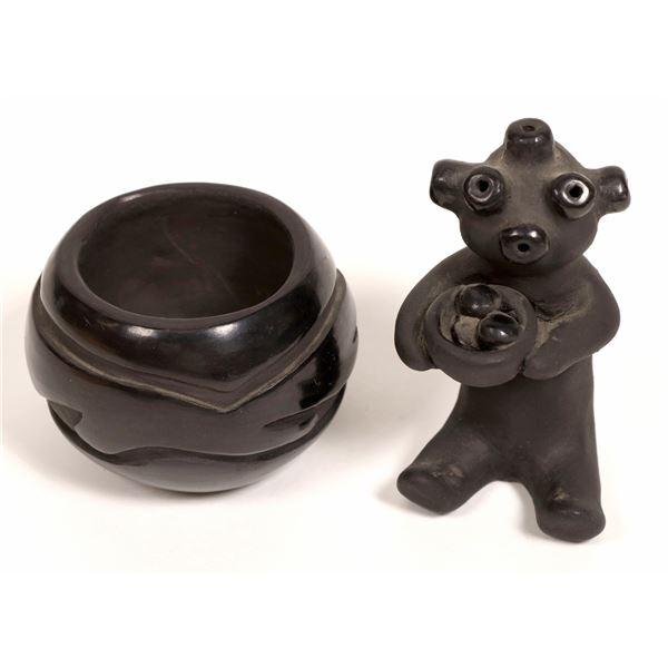 Santa Clara Pueblo Pottery Pair  [134054]