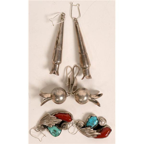Navajo Earrings--3 Pair  [135509]