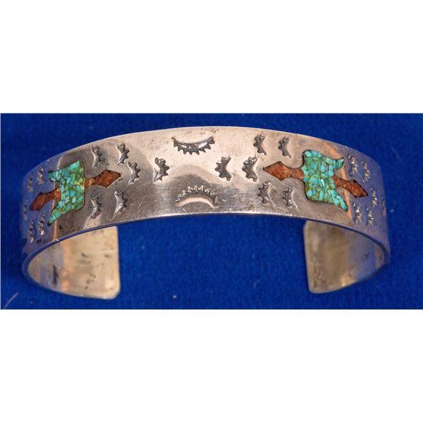 Navajo Chip Inlay Cuff  [133865]