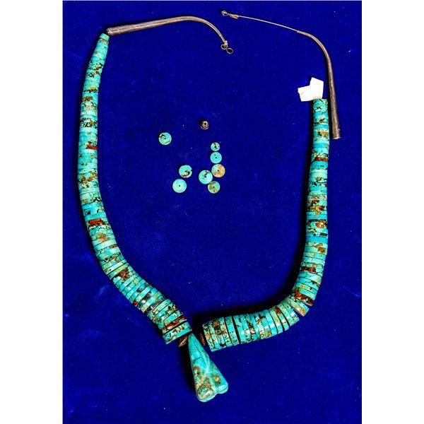 Turquoise Heishi Necklace  [132787]