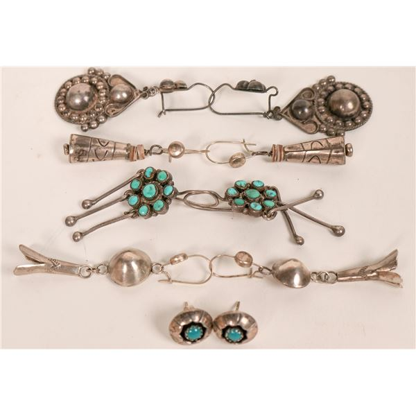 Group of Navajo and Zuni Earrings  [135501]
