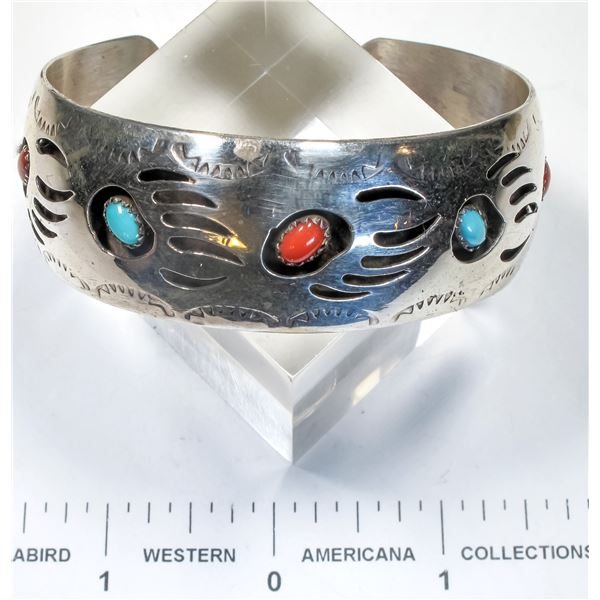 Navajo Turquoise and Coral Bracelet  [135596]