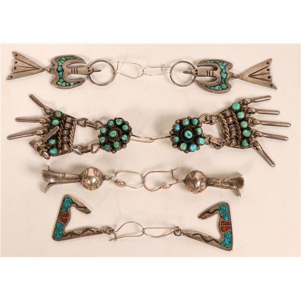 Vintage Navajo and Zuni Earrings  [135500]
