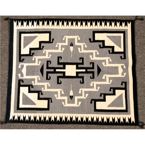 Toadlena Two Grey Hills Weaving  [119209]