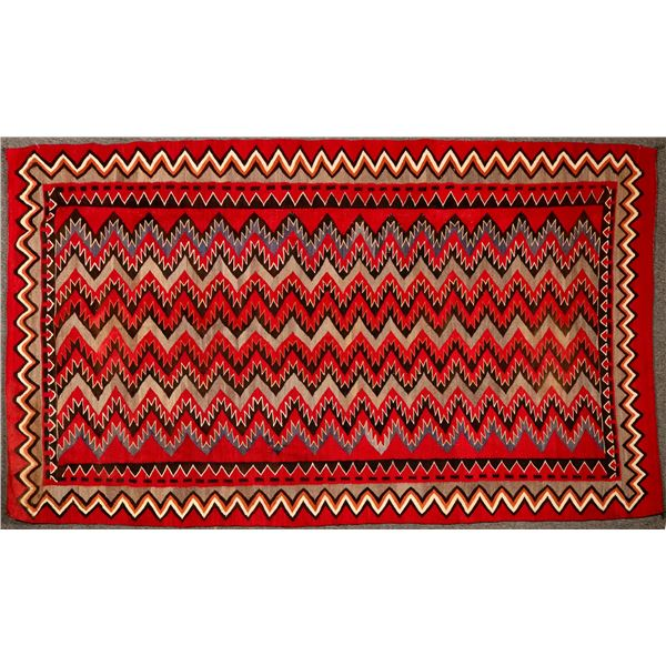 Red Mesa Navajo Rug - 5 ft x 8.5 ft - Beautiful Example!  [122244]