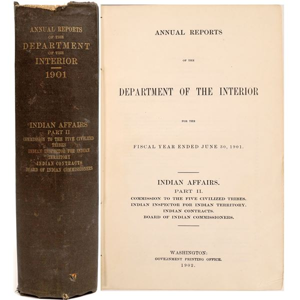 Annual Reports of the Department of the Interior Indian Affairs Part II  [132822]