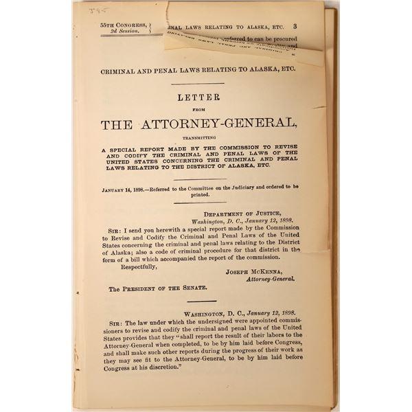 U.S. Attorney General Letter to Alaska  [131769]