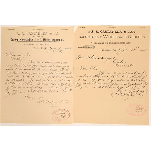 Letters From Store Involved in Bisbee Massacre  [127620]