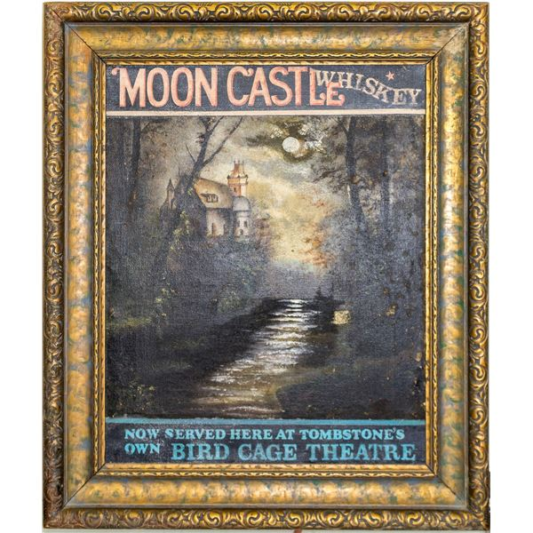 Moon Castle Whiskey Advertising, Oil on Canvas  [49050]