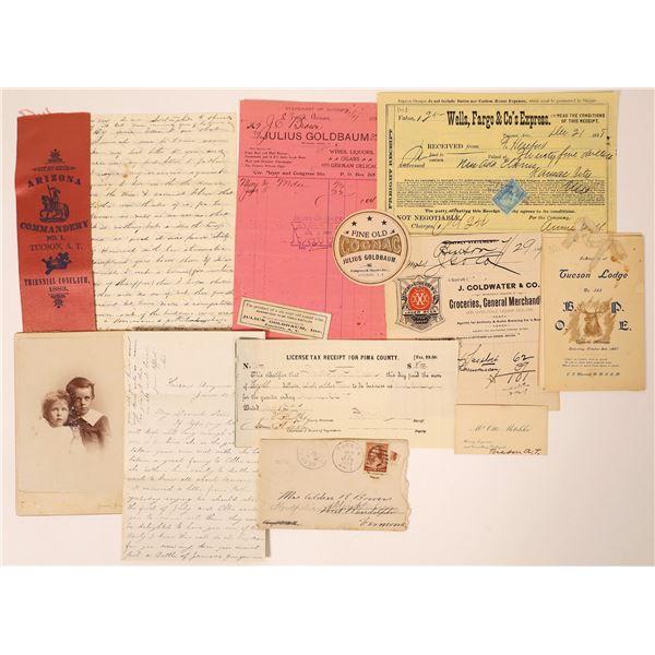 Tucson, Arizona Territory Ephemera Collection (12)  [131762]