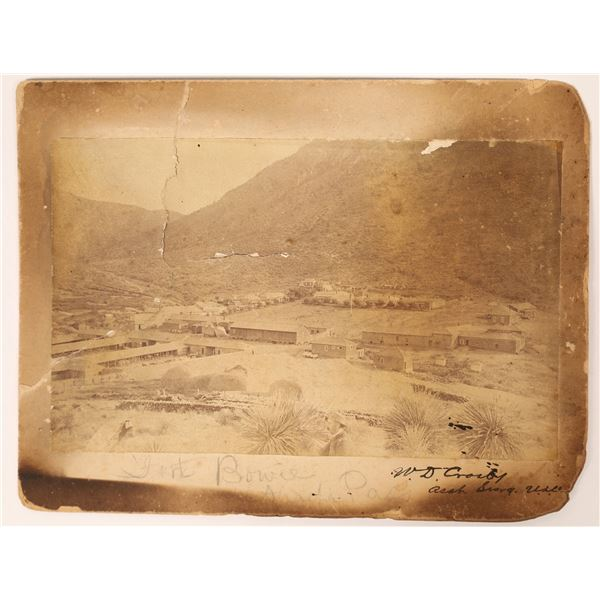 Mounted Photo of Fort Bowie, Arizona Territory  [131774]