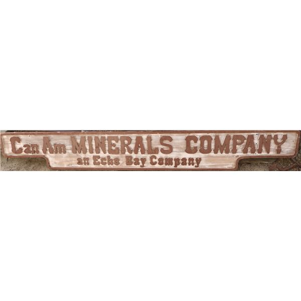 Can Am Minerals Co. Wood Sign  [131779]