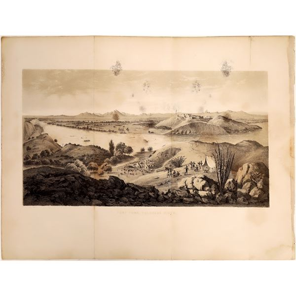 Fort Yuma on the Colorado River Lithograph, c. 1857, Rare  [111897]