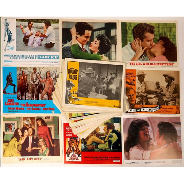 Group of 50 Movie Lobby Cards, Famous Stars, Westerns, Camp Movies, 1950's Era- 1980  [129560]