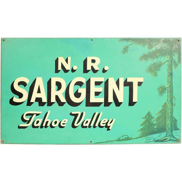 Business Sign from Tahoe Valley  [131984]