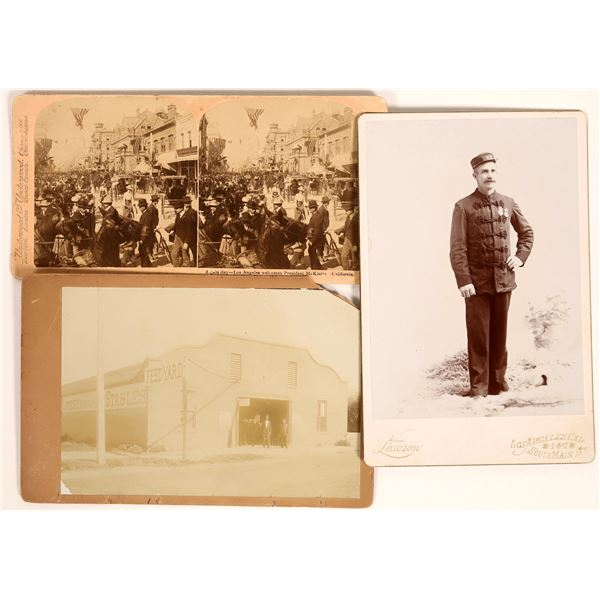 Early Los Angeles Stereo View & Cabinet Cards  [131987]