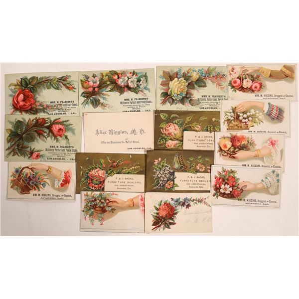 Trade Cards from Los Angeles and Anaheim, CA - 14 pcs  [133740]