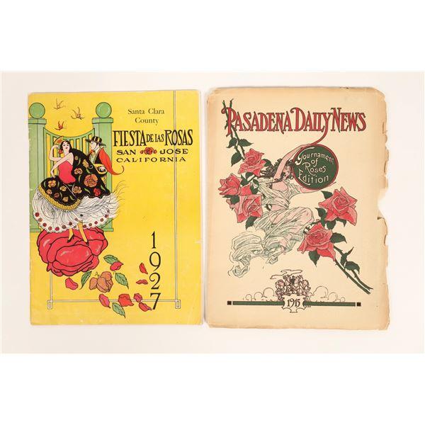 Two Rose Festival Programs  [129789]