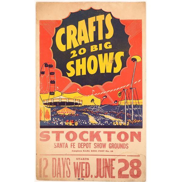 Stockton Crafts Circus at the Santa Fe Depot Show Grounds  [133786]