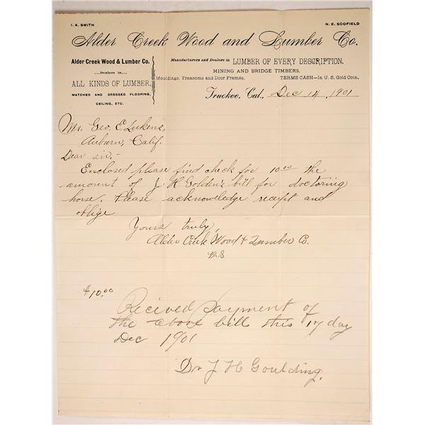 Alder Creek Lumber Company Letterhead  [135455]
