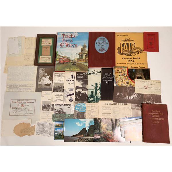 California Ephemera and Collectibles   [132833]