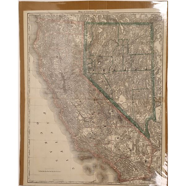 Map of California and Nevada  [133790]