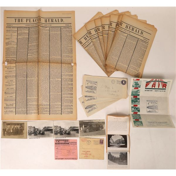 Misc. Calif. Postcards, Newspapers  [129923]