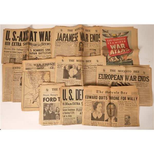 WWII Newspaper & More  [110164]