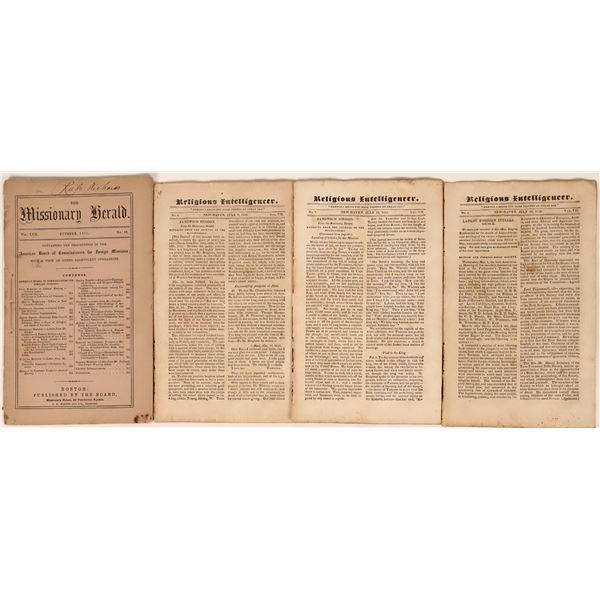 Religious Periodicals from 1800's  [124455]