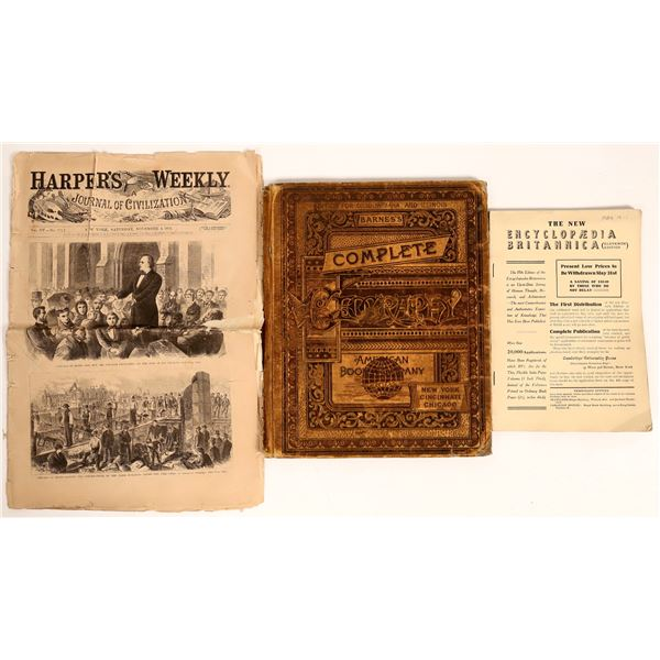 Newspaper Covering Great Chicago Fire 1871, Plus 1885 & 1911 Books  [129738]