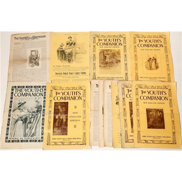 "Rare ""Youth's Companion"" Magazines (10)  [129736]"