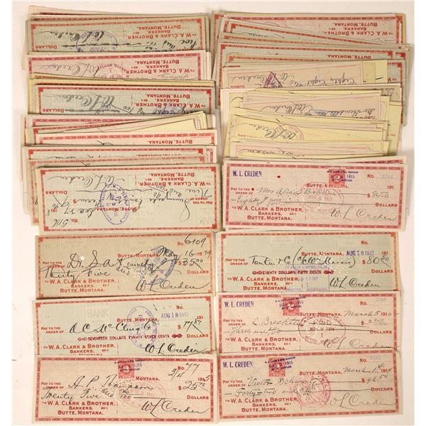 Butte, Montana W. A. Clark check collection  [130104]
