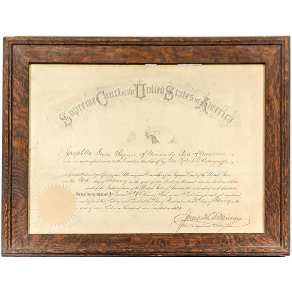 Framed United States Supreme Court Appointment  [135561]