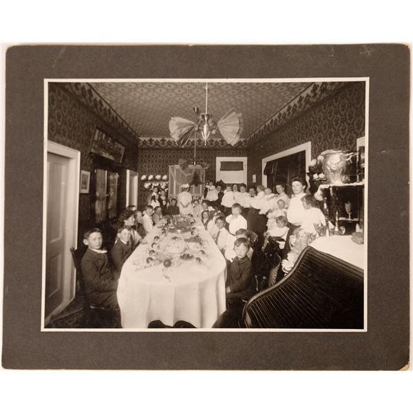 Birthday Party Photo of Large Gathering in Carson City, c1905  [130119]