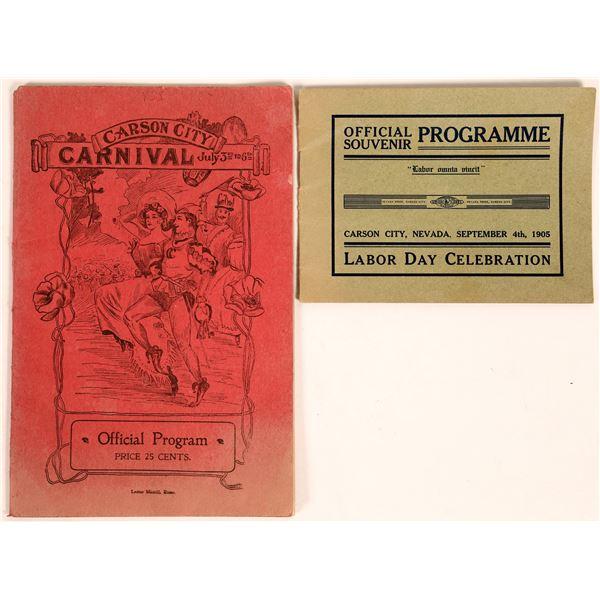 Carson City Event Programs  [131469]