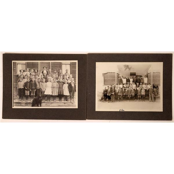 Two Cherry Creek, Nevada school photographs of David Miles Class  [130117]