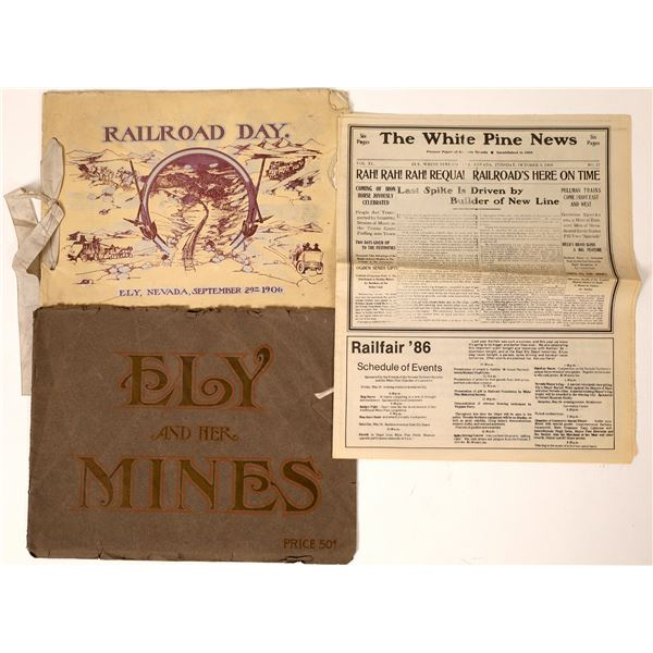 """""""Railroad Days"""" and """"Ely and Her Miners"""" booklets  [130069]"""