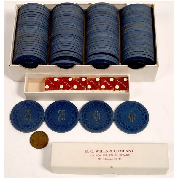 Ritchford Hotel Casino Chips - 98 and Dice - 6  [133747]