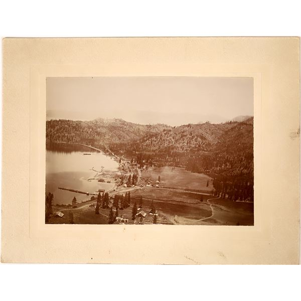 Glenbrook, Nevada Mounted Photo with Great View of Lumber Mill  [130113]