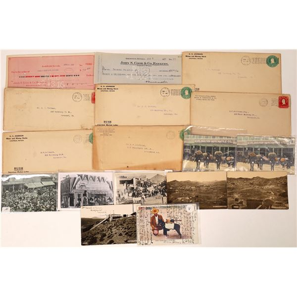 Goldfield Collection of Covers, Post Cards and Checks  [131807]