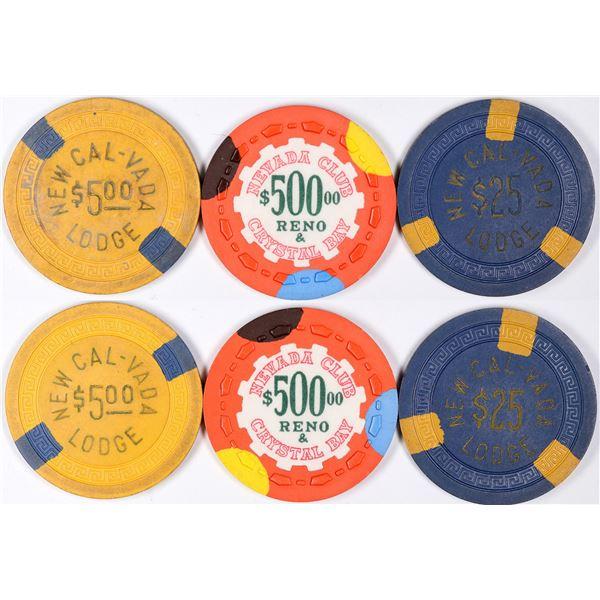 Scarce Tahoe Gaming Chips  [131214]