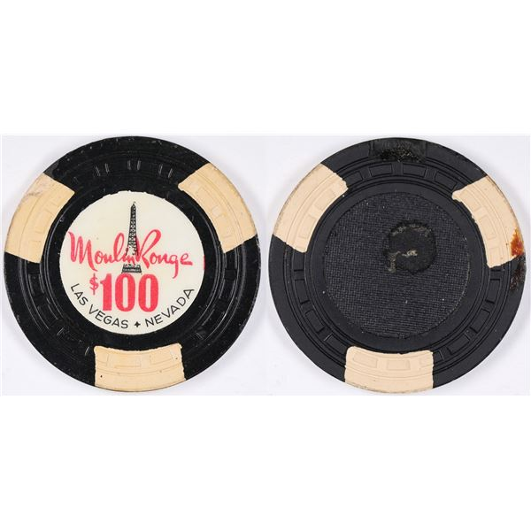 Moulin Rouge $100 Gaming Chip  [131197]