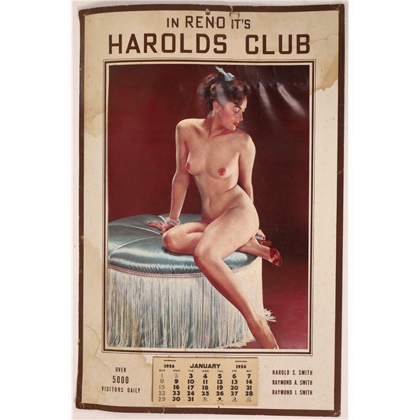 Harold's Club 1956 Pinup Calendar  [131606]