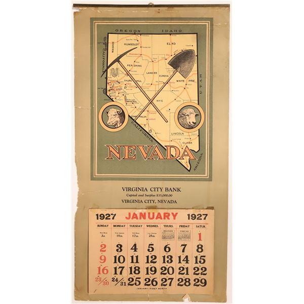 Virginia City Bank Calendar 1927  [133787]
