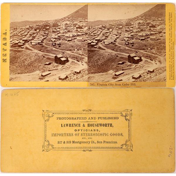 Rare Virginia City, Nevada Stereo View  [131616]