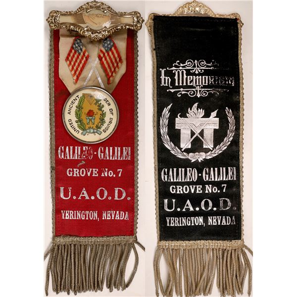 Yerington, Nevada Order of Druids Ribbon in spectacular condition  [130009]