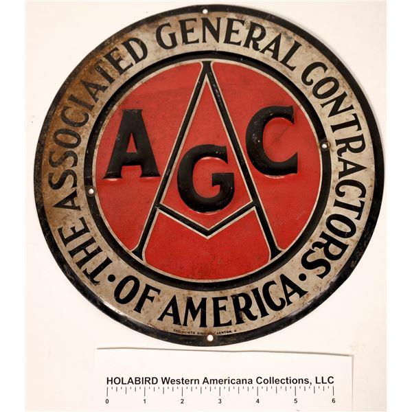 Associated General Contractors of America Tin Sign  [130111]