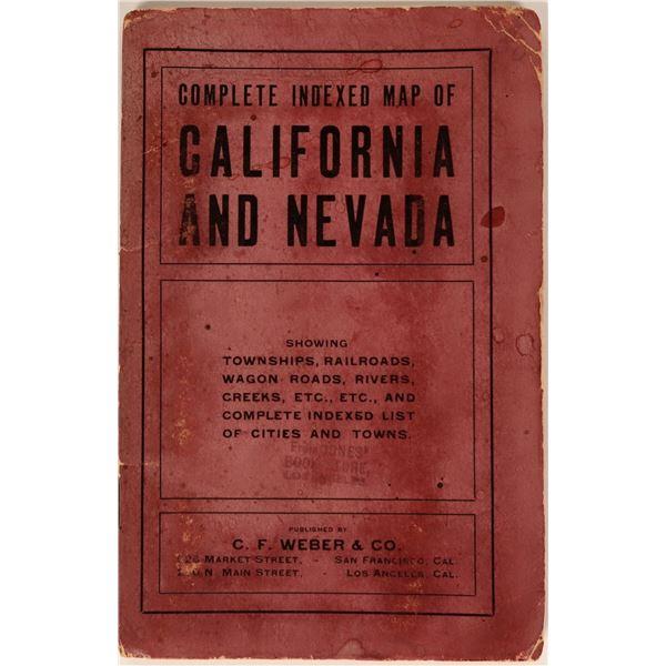 C.F. Weber & Co. California and Nevada Pocket Map  [116837]