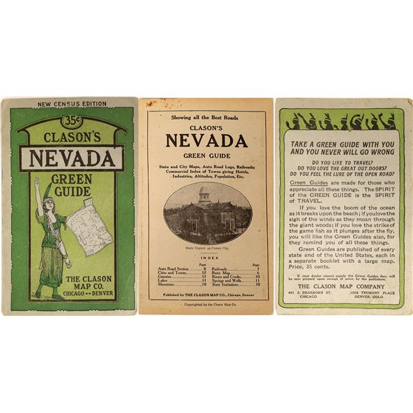 Clasons Green Guide to Nevada  [130110]