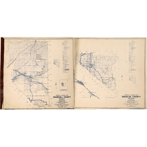 Early Nevada Counties Highway Maps  [121693]